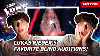 The Favorite Blind Auditions of the famous Tiktoker LUKAS RIEGER! 🎶  The Voice Kids
