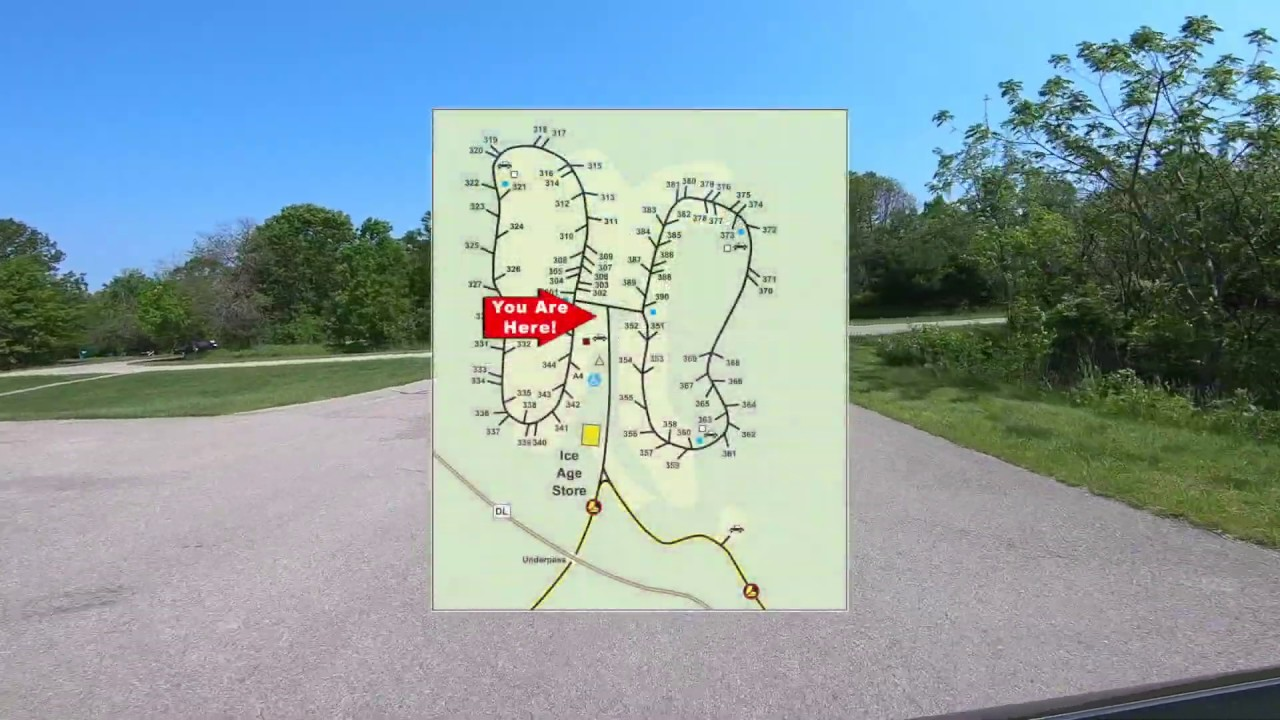 devils lake camping map Lower Ice Age Campground Drive Through Youtube devils lake camping map