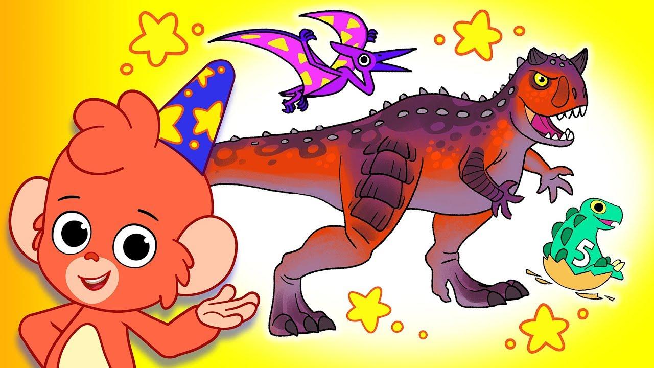 Learn Dinosaurs for Kids | Dinosaur Cartoon videos | t-rex carnotaurus | Club Baboo