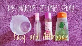 DIY makeup setting spray only 3 ingredients|| Setting spray at home in hindi|| Shikha Beautyworld