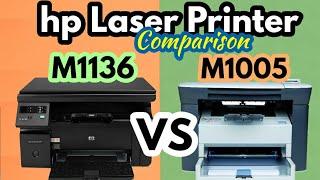 HP Laserjet Pro M1136 mfp vs HP Laserjet M1005 Multifunction Laser Printer Review amp Comparison