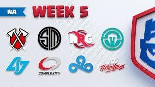 SCHEDULE: NA Matchup Week 5 thumbnail