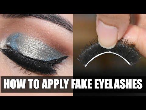 कैसे लगाएं और छुटाएँ Eyelashes  How To Apply & Remove Fake Eyelashes In HINDI