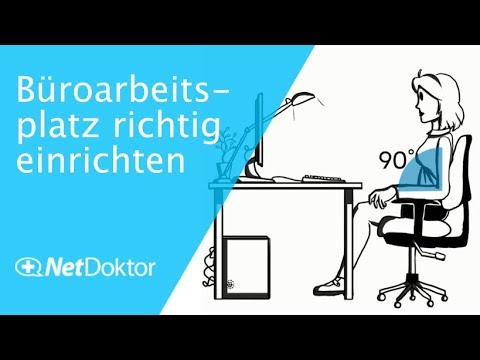 ergonomischer arbeitsplatz b roarbeitsplatz richtig einrichten youtube. Black Bedroom Furniture Sets. Home Design Ideas