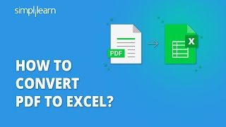 How To Convert PDF To Excel   PDF To Excel Conversion   Import PDF To Excel   Simplilearn