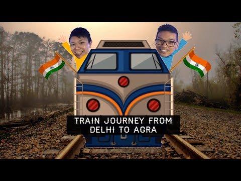 India Train Ride - Delhi to Agra AC First Class Travel Vlog   印度火車之旅 - 新德里前往阿格拉 - 頭等艙
