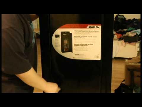 Stack-On 8 Gun cabinet - YouTube