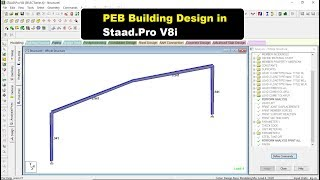 PEB Building Design In Staad Pro