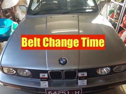 318i belt diagram how to replace belts on bmw e30 youtube  how to replace belts on bmw e30 youtube