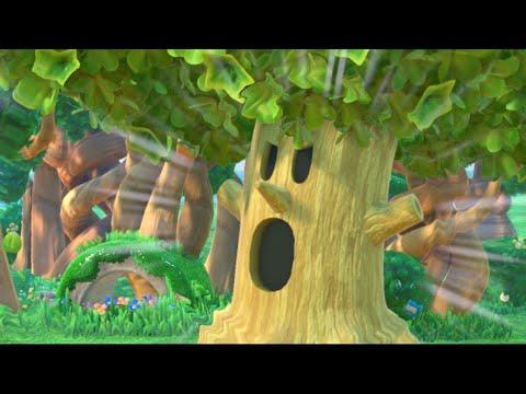 Kirby: Star Allies Gameplay - Whispy Woods Boss Fight