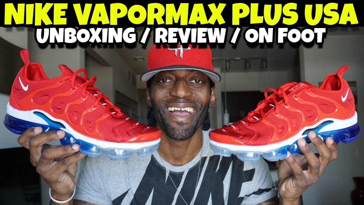 the best attitude 98690 086e2 NIKE VAPORMAX PLUS USA DETAIL REVIEW & ON FOOT