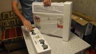 Розпакування обігрівача Electrolux ECH/AG-1000 MF