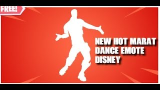 New Hot Marat Emote(Free Emote) Fortnite Battle Royale #Disney Fans #RE21Nation