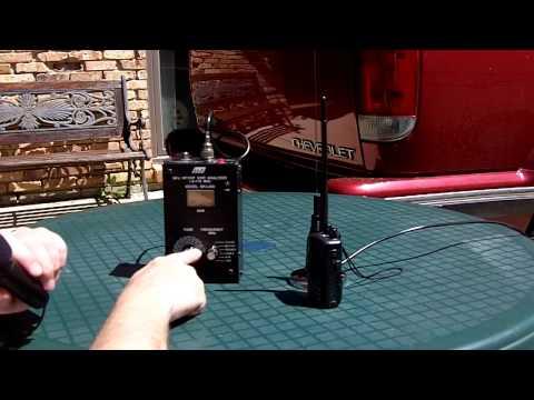 A Short Demo Using The MFJ 209 Antenna Analyzer