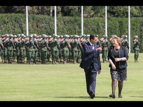 Ceremonia Oficial de Bienvenida a la Presidenta de la República de Chile, Michelle Bachelet Jeria