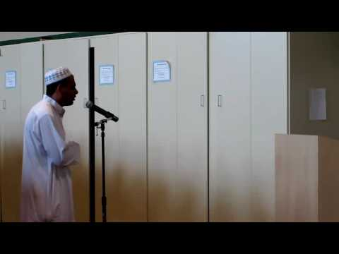 Imam Sherif Ayoup leads the Friday (Jummuah) Prayers at Omar Haikal Islamic Academy - Las Vegas