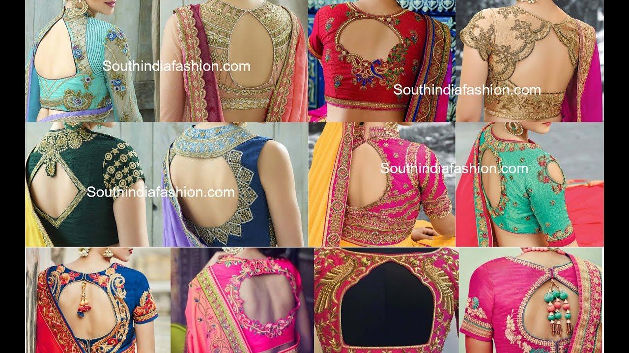 how to cut latest saree blouse design 2017