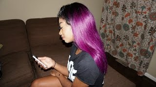 GO Back to school with COLOR..RAGING PURPLE HAIR Review