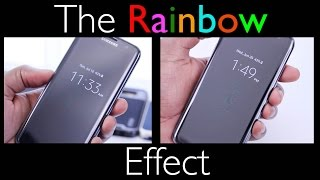 "The ""Rainbow Effect"" - AMAZING Thing *Clear* Fullscreen Protector: Part II - Samsung Galaxy S7 Edge"