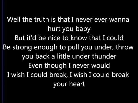 Cassadee Pope - I Wish I Could Break Your Heart Lyrics (On Screen) HD