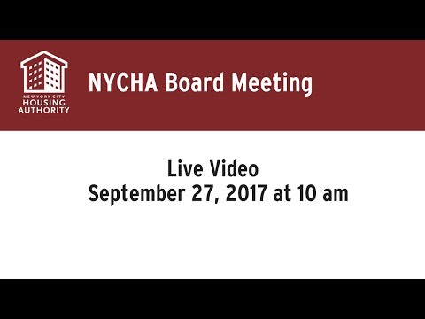 NYCHA 9/27/17 Board Meeting