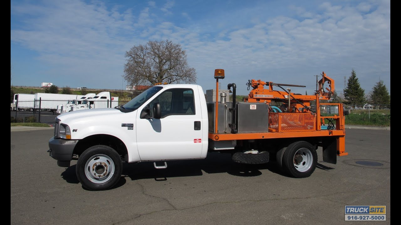 Ford Super Duty For Sale >> 2002 Ford F-550 Simco 225 PTC Pavement Core Drill Truck for sale by Truck Site - YouTube