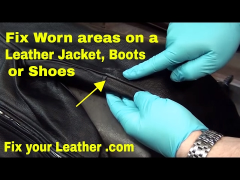 LEATHER JACKET REPAIR, FIX WEAR and SCUFFS, Touch up DYE Kit