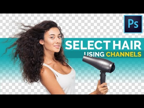 The BEST Way To Select Hair In Photoshop!