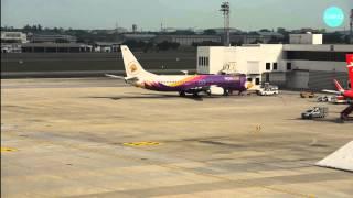 Nok Air Boeing 737-800 turnaround time at Don Mueang บริการภาคพื้นระหว่างเที่ยวบินเข้าและออก