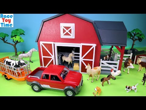 Farm Barn Terra Playset with Fun Animals Toys For Kids
