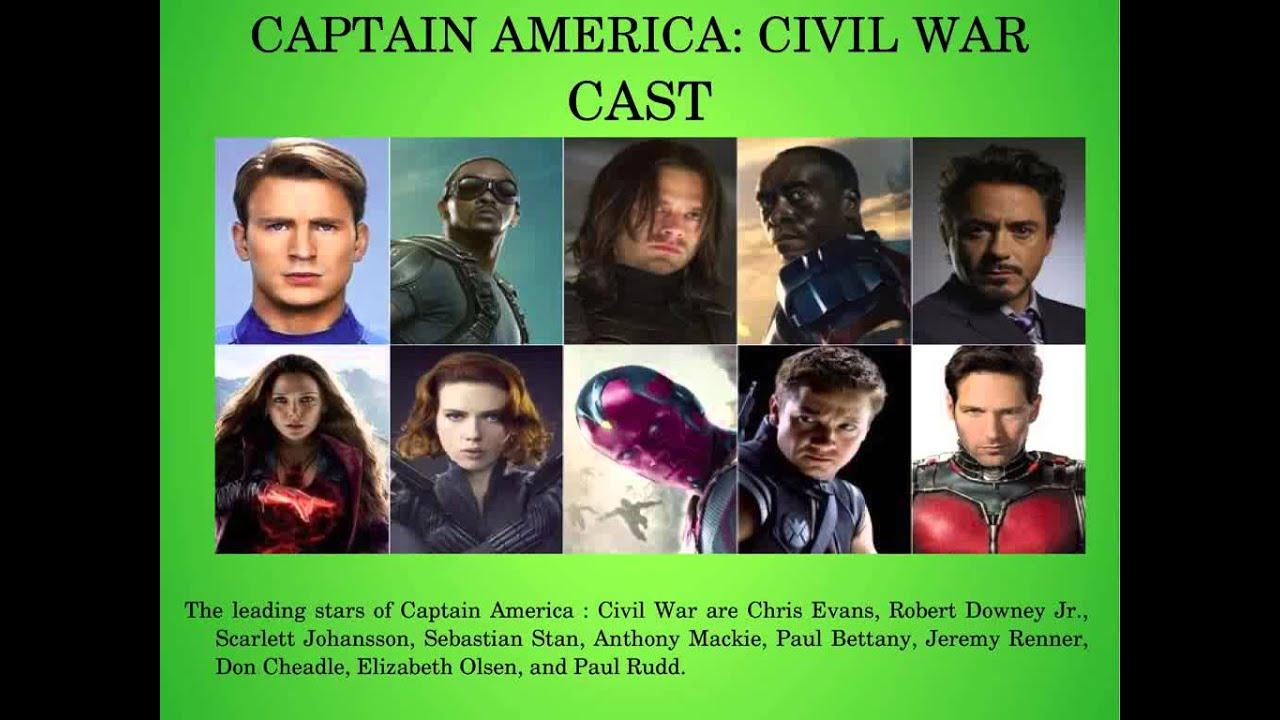 Captain America Civil War Cast