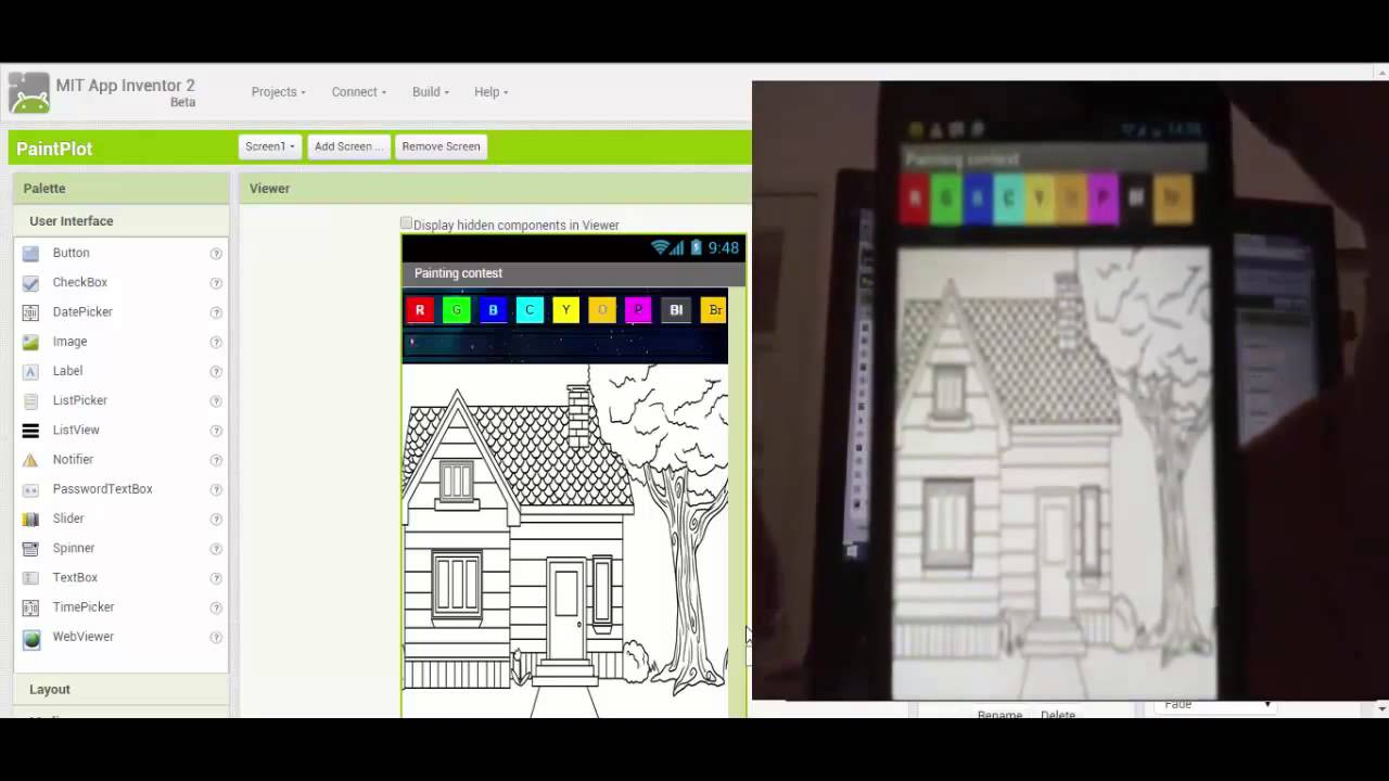 App Inventor 2 Tutorial: Android App - Digital Coloring Book