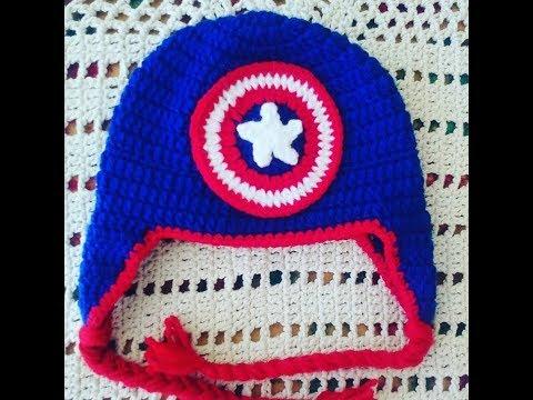 f1e1cfce85d0e Touca de crochê Capitão America - YouTube