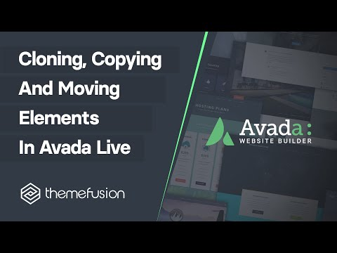 Cloning Copying and Moving Elements in Fusion Builder Live Video