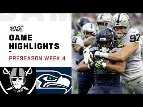 Raiders vs. Seahawks Preseason Week 4 Highlights | NFL 2019