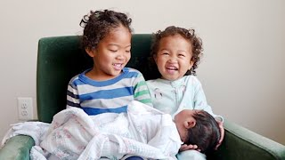 AJEDI AND AJOUI MEET THEIR NEW BABY SISTER