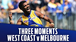 West Coast v Melbourne | Three moments that mattered | Preliminary Final, 2018 | AFL