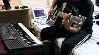 Peasu song - Vennira Iravugal guitar & piano cover by sud