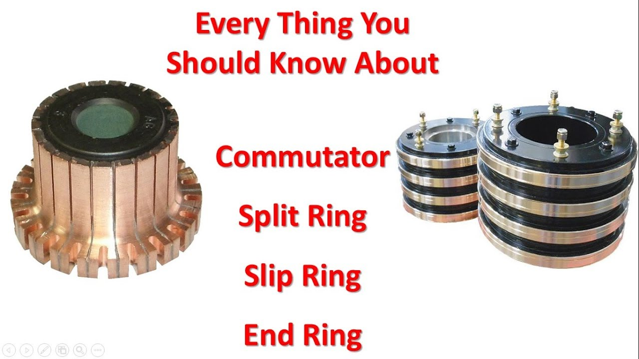 Difference between commutator and slipring and splitring
