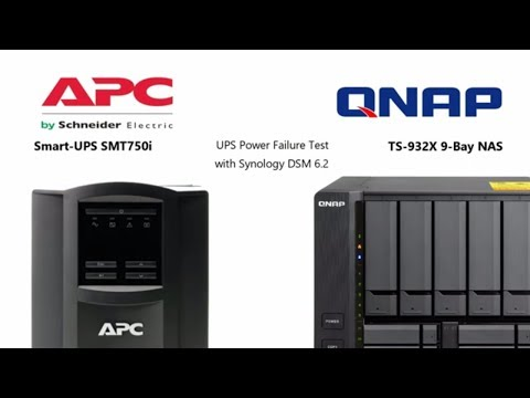 UPS and QNAP NAS Power Failure Test - TS-932X and SMT750i - YouTube