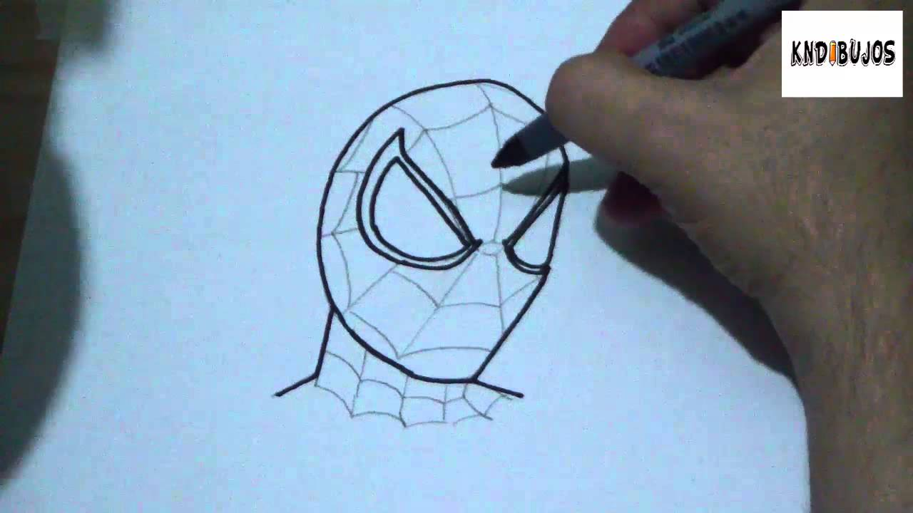 how to draw spiderman 3 step by step