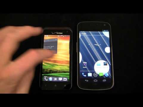 HTC DROID Incredible 4G LTE vs. Samsung Galaxy Nexus Dogfight Part 1