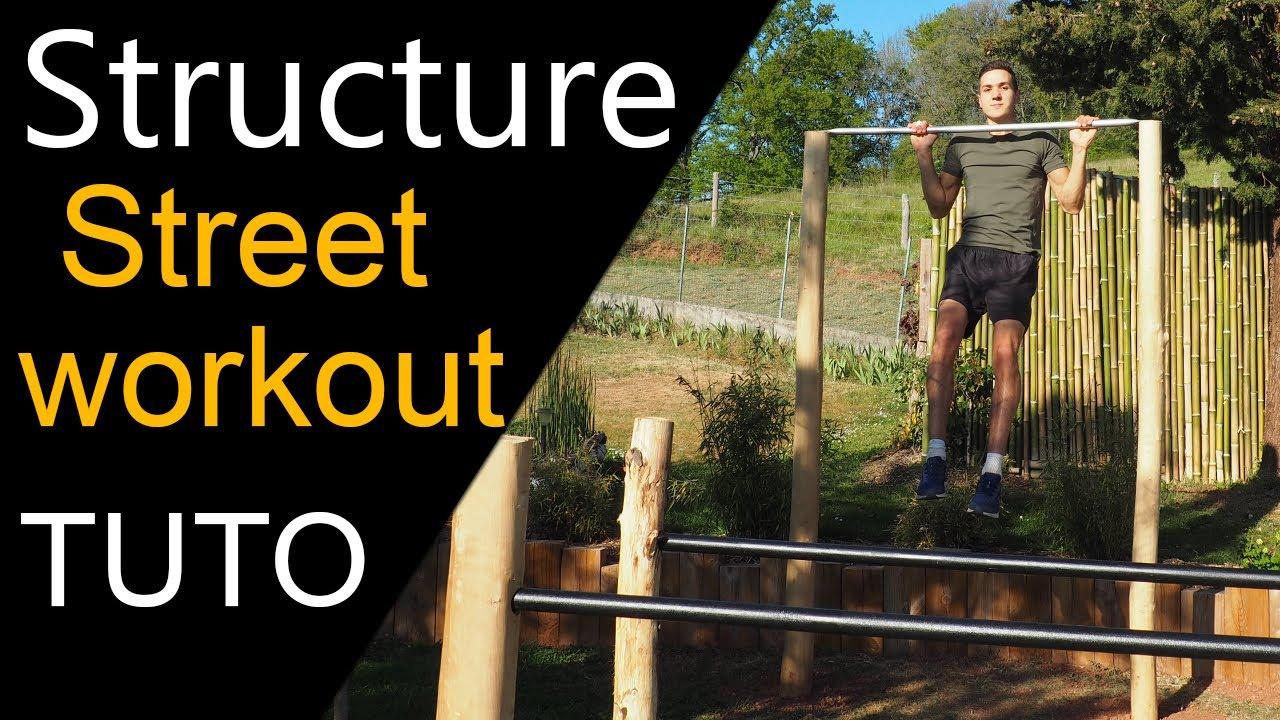 Street Workout Fabriquer Sa Barre De Traction Et Barres Parallèles Dans Son Jardin Tutoriel Youtube