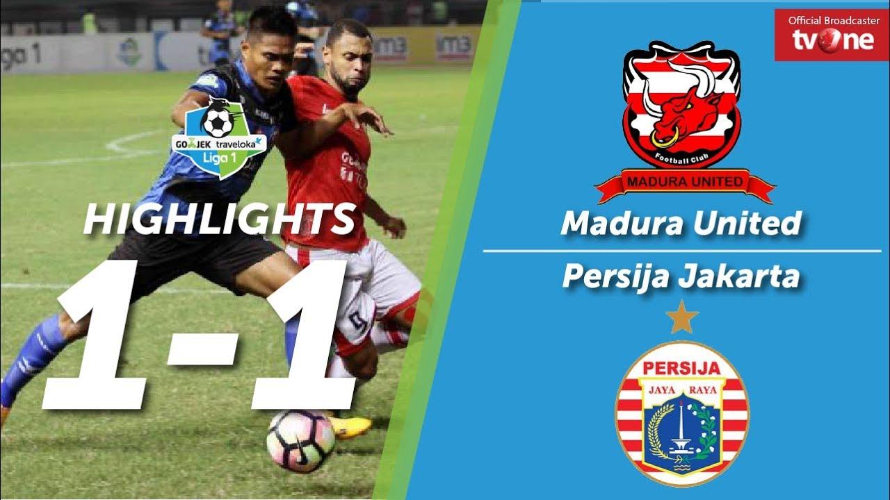 Madura United: Madura United Vs Persija Jakarta 1-1 All Goals