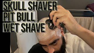 Skull Shaver - Pitbull Silver PRO Wet Shave Review