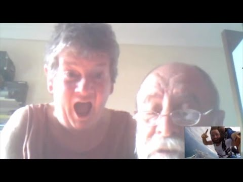 Son Traveling The Globe Shocks Parents With Video Chat While Skydiving