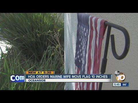 HOA orders Marine wife to remove her flag