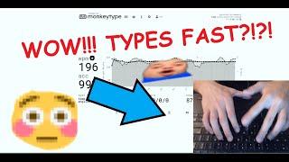 Typing 196WPM - Laptop Handcam