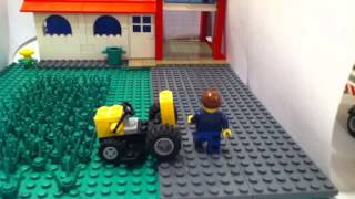 Mowing the lawn Lego style ( stop motion ) thumbnail