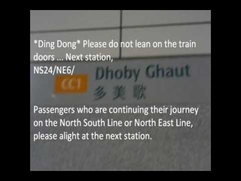 MacPherson Stn to Dhoby Ghaut Stn via Tai Seng Stn on 4 April 2010